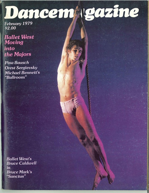 Bruce Caldwell on the cover of Dance Magazine.