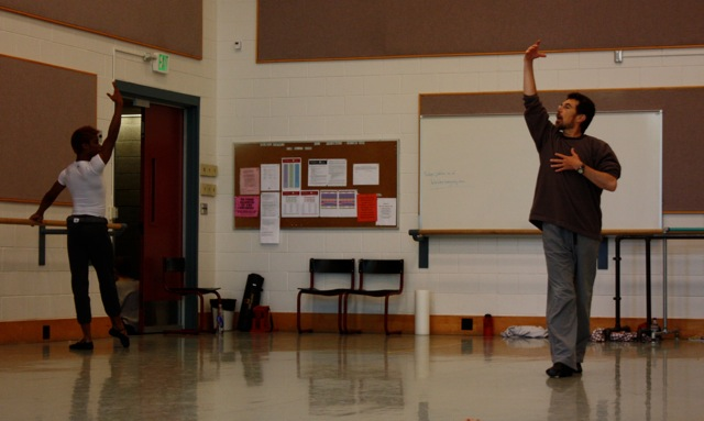 Ballet Master Bruce Caldwell teaches Men's Class.