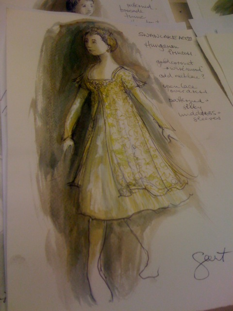 "There are new Cazalet designs for the the six Princesses in Act III.  This is the ""Hungarian Princess""."