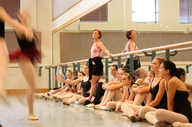 Former Ballet West Ballerina Jane Wood was a guest teacher for two weeks.