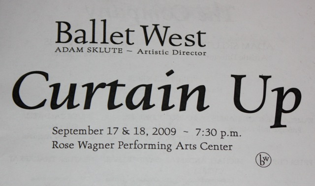 Curtain Up 09 - with fabulous Ballet West 2 and members of the Ballet West Academy's Professional Division.