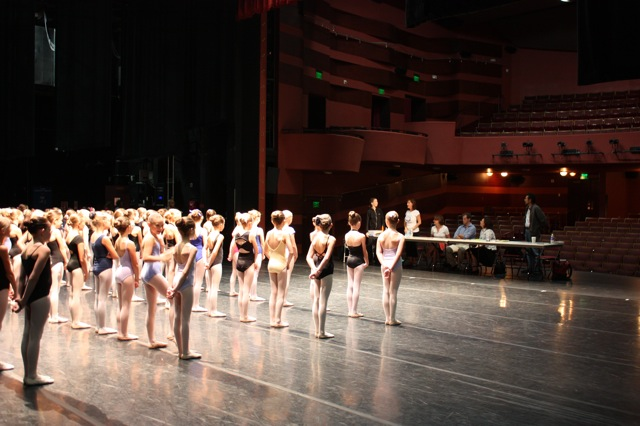 Ballet West Nutcracker Audition at The Rose Wagner Theatre.