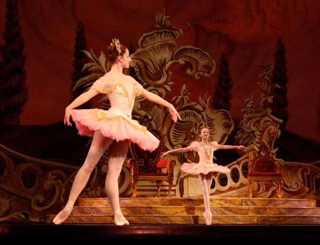 Christiana Bennett as the Sugar Plum Fairy and Baily Jones as Clara