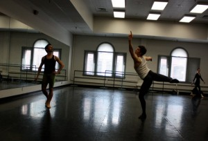 Calvin Kitten, Henry Philofsky in Ballet West 2 class.