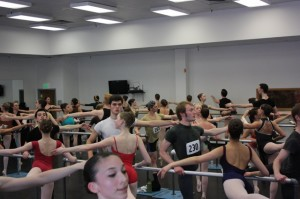 Ballet West's crowded SLC audition.  Photo by Peter Chrisite