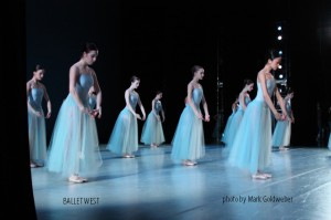 Artists of Ballet West in Serenade