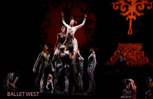 Annie Breneman and Artists of Ballet West in Michael Bearden's DESCENT