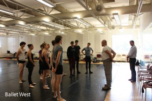 Adam Sklute and Bruce Marks speaking with Ballet West 2