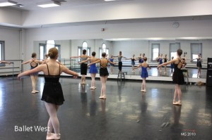 Kate Crews conducting a pointe class at the Capitol Theatre where the 'lesser intensive' is held.