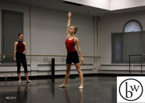 Jamie Lynn Schultz working on Christopher Anderson's choreography