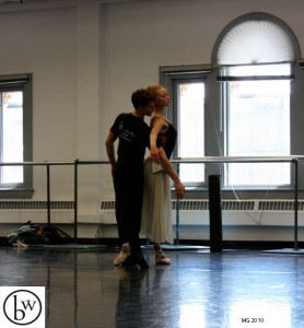 Elanor Bock and Ryan Sargent in Thomas Mattingly's choreography