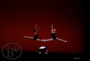 Dress rehearasal of THE FOUR TEMPERAMENTS - Lindsay Duerfeldt, Aidan DeYoung and Sayaka Otahki