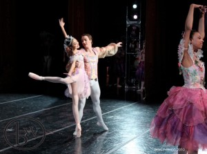 Sayaka Ohtaki, Christopher Sellars and Whitney Huell in Waltz of the Flowers